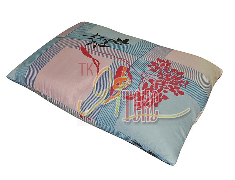 Подушка экофайбер 70x70 с чехлом из поплина зк
