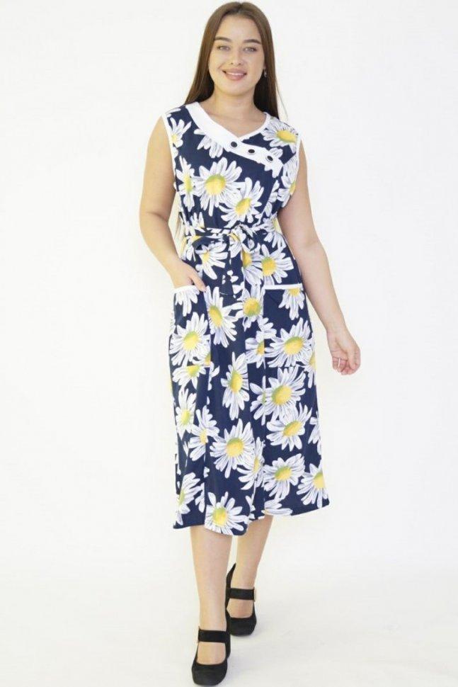 Платье трикотажное Матти (ромашки) фото