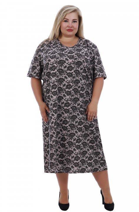 Ночная сорочка Кружево (розово-черная)