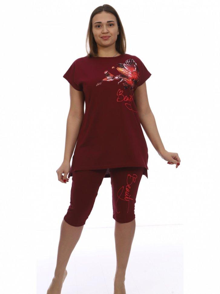Костюм трикотажный Джинет (бордовый) фото