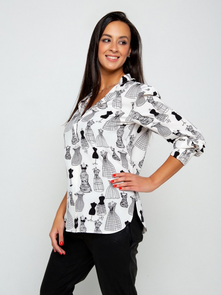 Блуза трикотажная Джесса (белая)