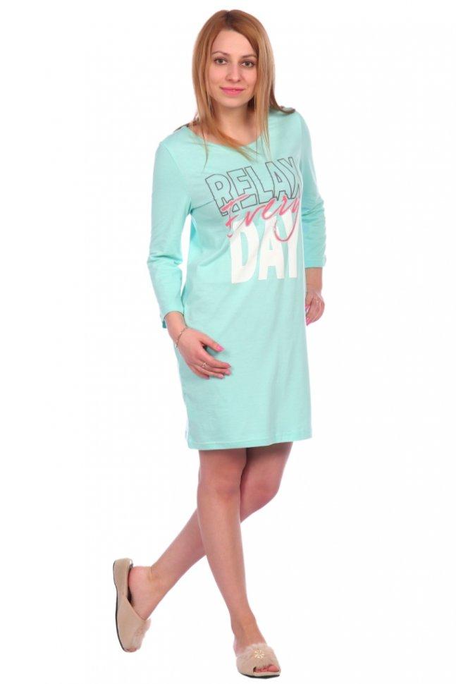 Ночная сорочка Сьюзи (мятная) фото