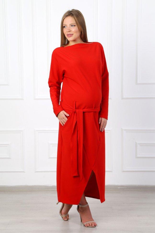 Платье трикотажное Анабелла (красное) Инсантрик