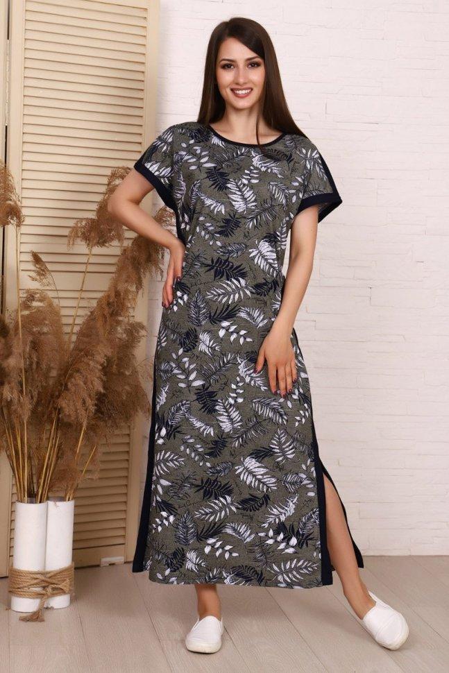 Платье трикотажное Каре (зеленое)