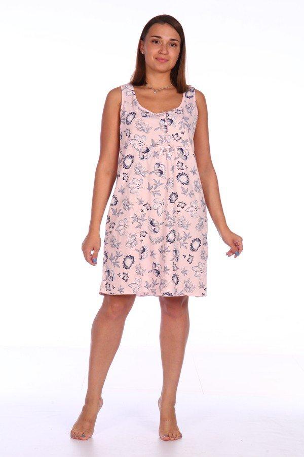Ночная сорочка Калида (розовая) фото