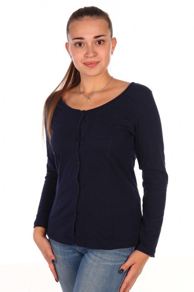Рубашка трикотажная Кара (синяя) фото
