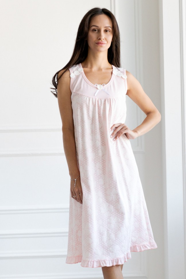 Ночная сорочка Рикка (светло-розовая)