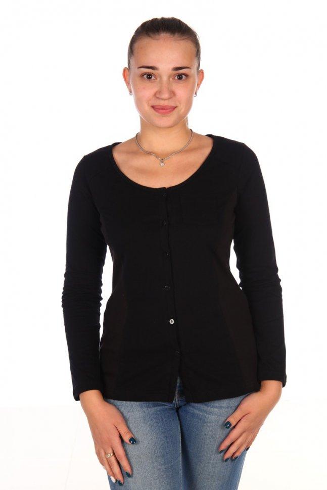 Рубашка трикотажная Кара (черная) фото