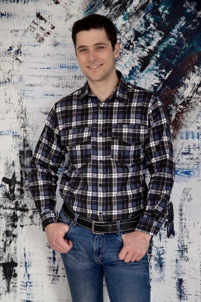 Рубашка мужская Ярослав (синяя)
