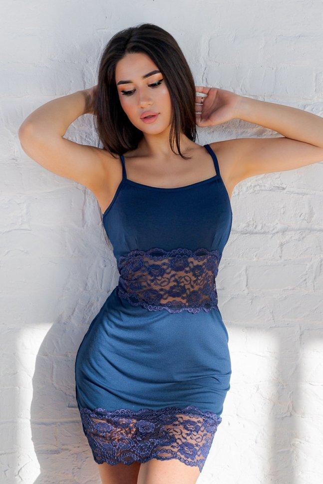 Ночная сорочка Герда (индиго)