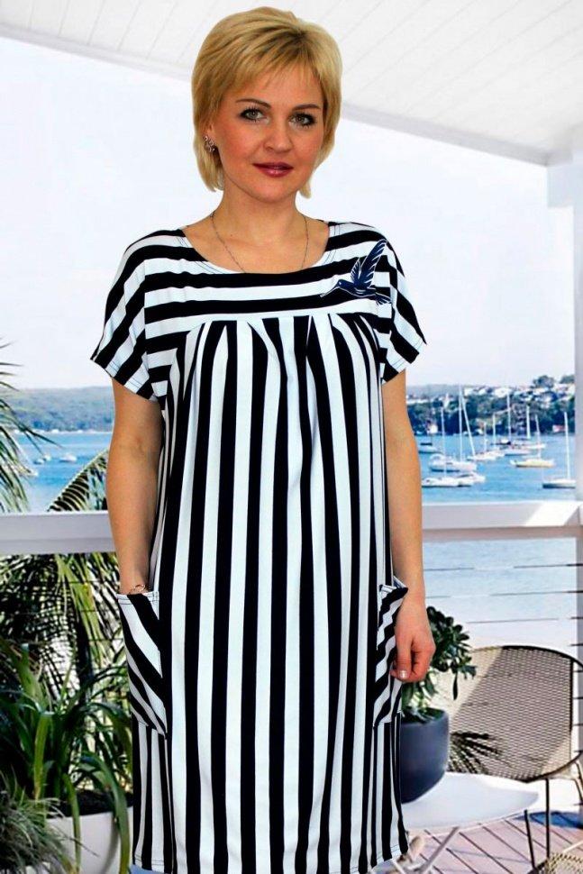 Платье вискозное Раяс (полоска) от