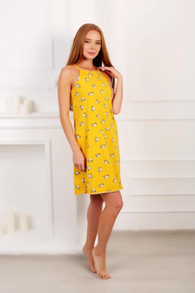 Ночная сорочка Элефант (желтая) фото