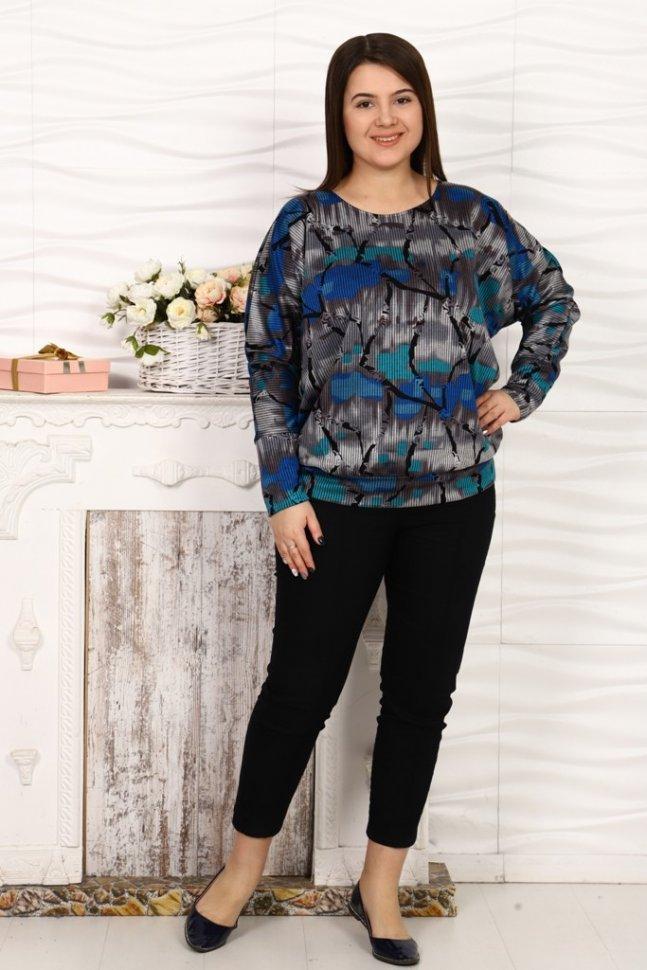 Блуза трикотажная Джаннет (серая) фото