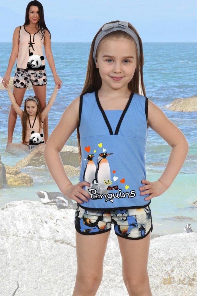 Купить Пижама детская Полетта (пингвины) рр, Инсантрик, Пижамы