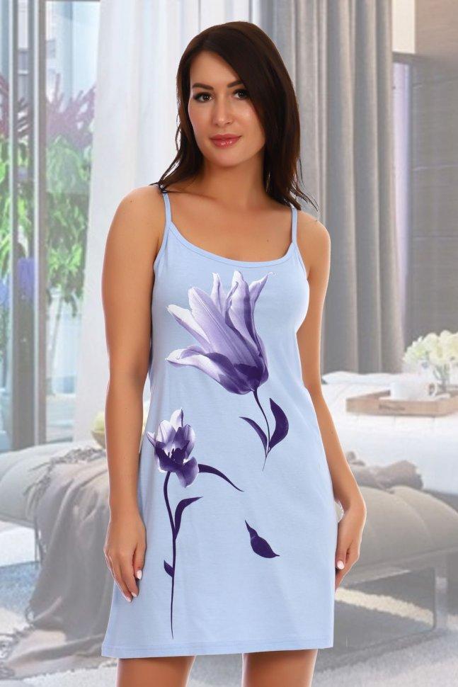 Ночная сорочка Патти (голубая) фото