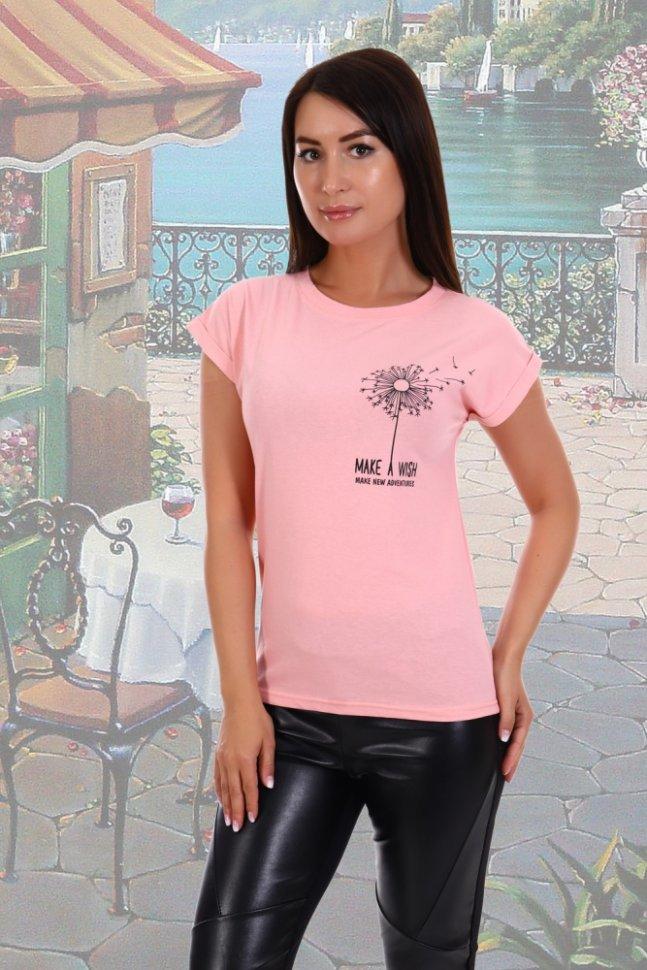 Футболка трикотажная Бьюти (розовая) фото