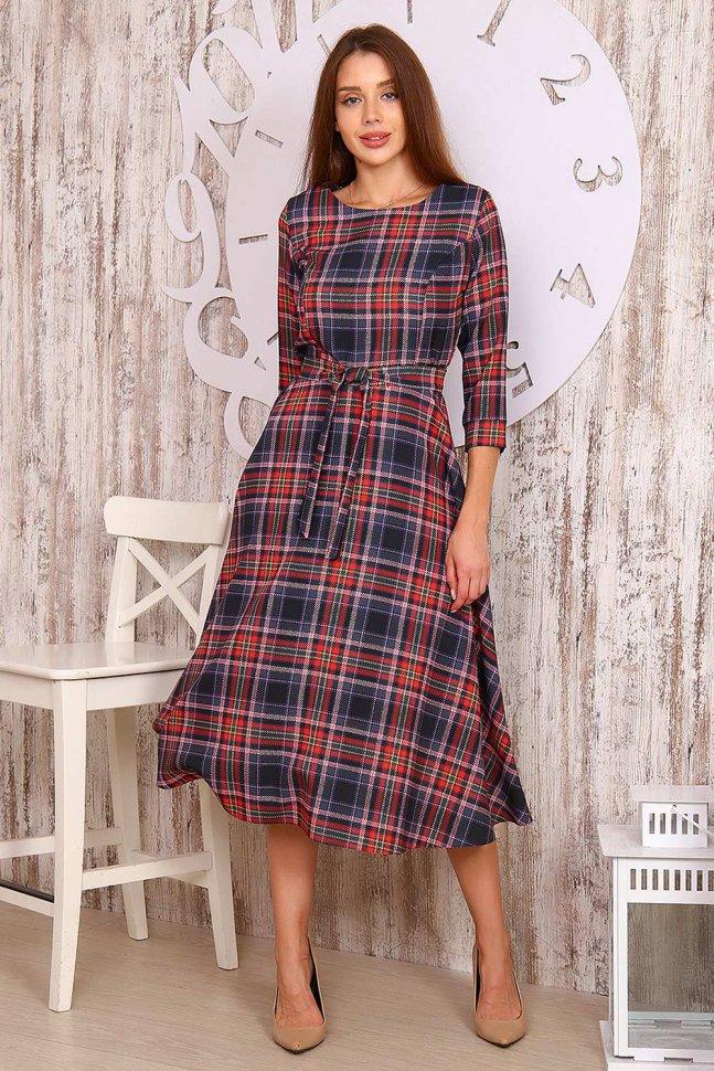 Платье трикотажное Афра (красное)