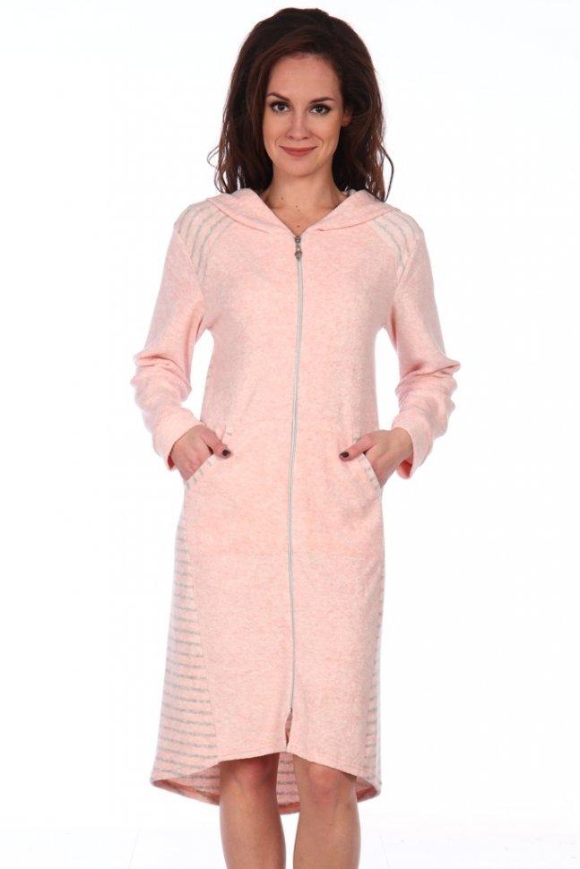 Халат махровый Эдэйн (розовый) фото