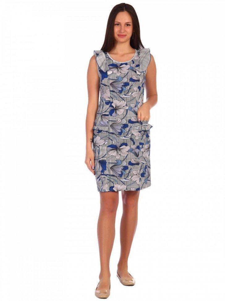 Платье трикотажное Саммая (синее) фото