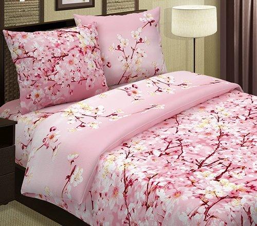 Комплект из поплина 2-спальный Сакура (розовый) фото