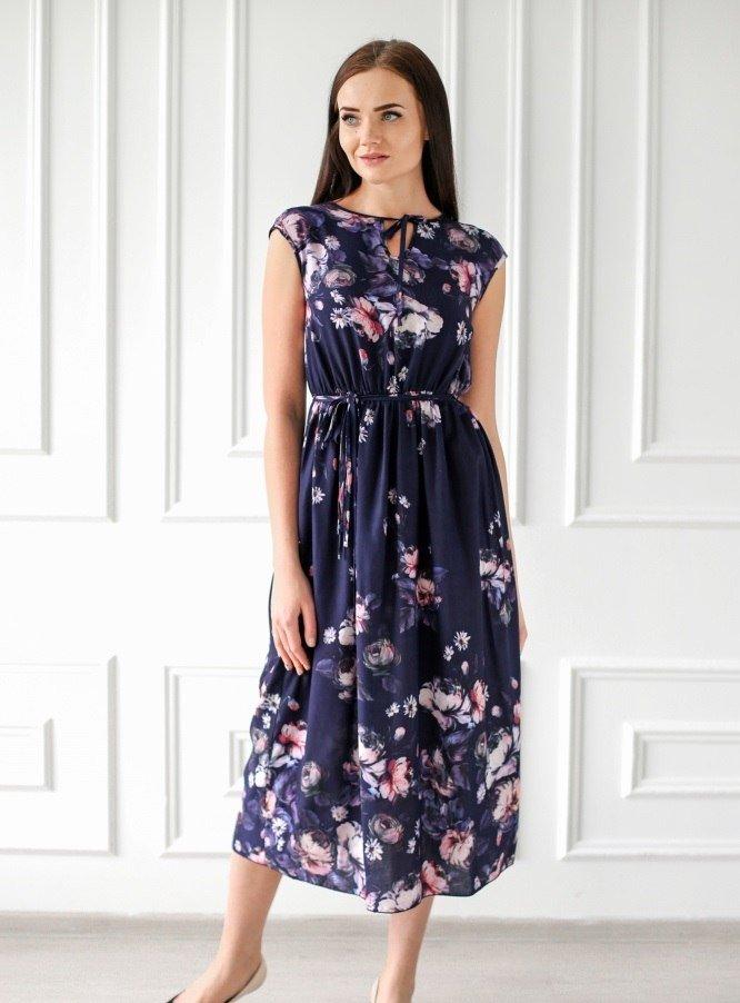 Платье штапельное Агриппина (в ассортименте) фото