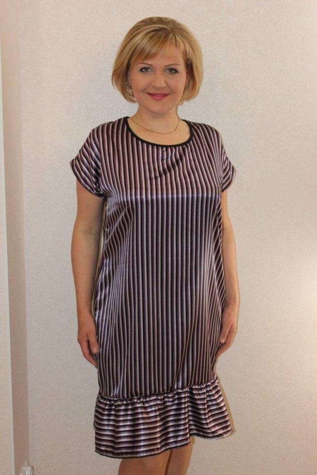 Платье трикотажное Феллина (полоска) фото