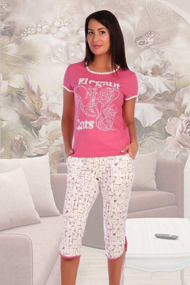 Костюм трикотажный Гелио (розовый) фото