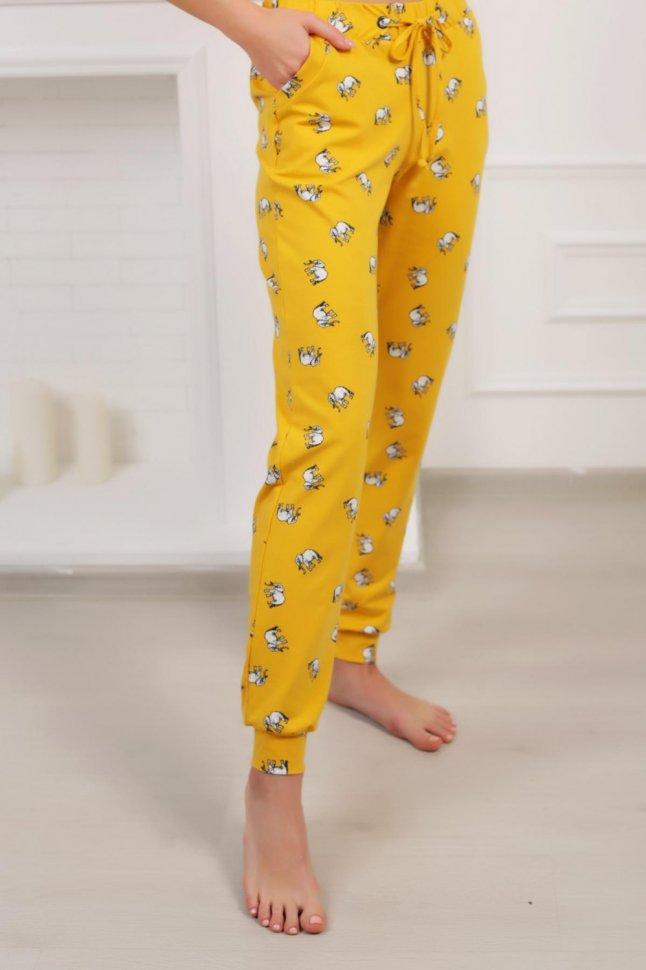 Брюки трикотажные Миранда (желтые) фото
