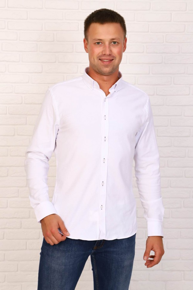 Рубашка мужская Роберт (белая)