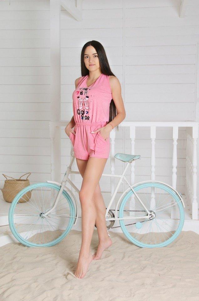 Комбинезон трикотажный Гранж (розовый) фото