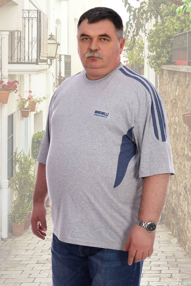 Футболка мужская Олег (серая) фото