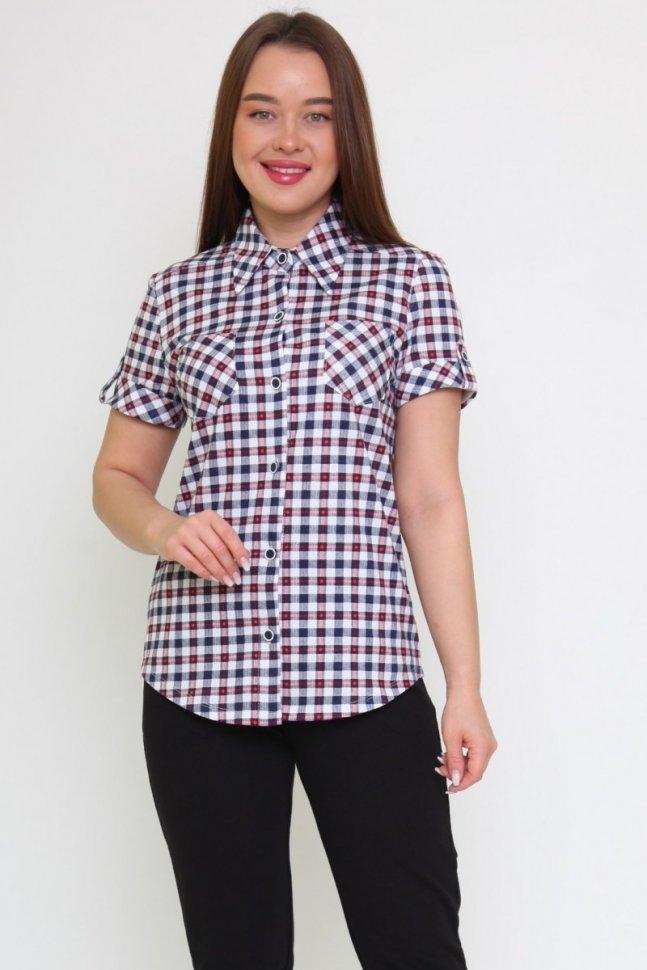 Рубашка трикотажная Брэйди (мелкая клетка)