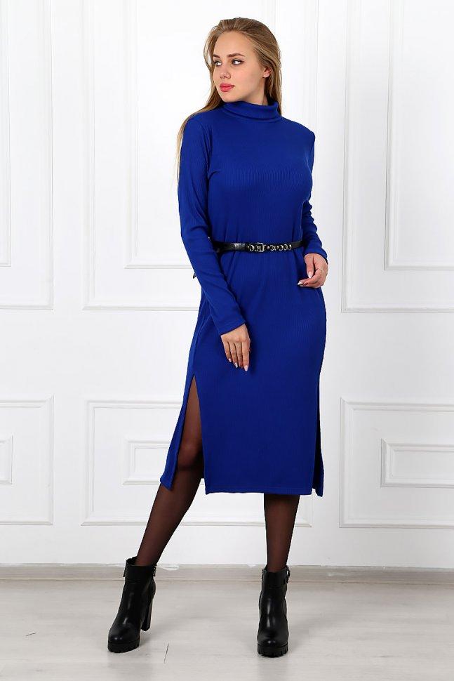 Платье трикотажное Кэрита (синее)