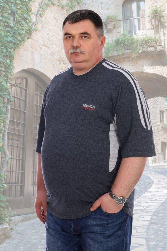 Футболка мужская Олег (темно-серая) фото