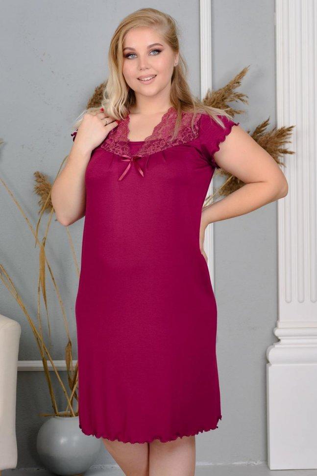 Ночная сорочка Летиссия (вишневая)