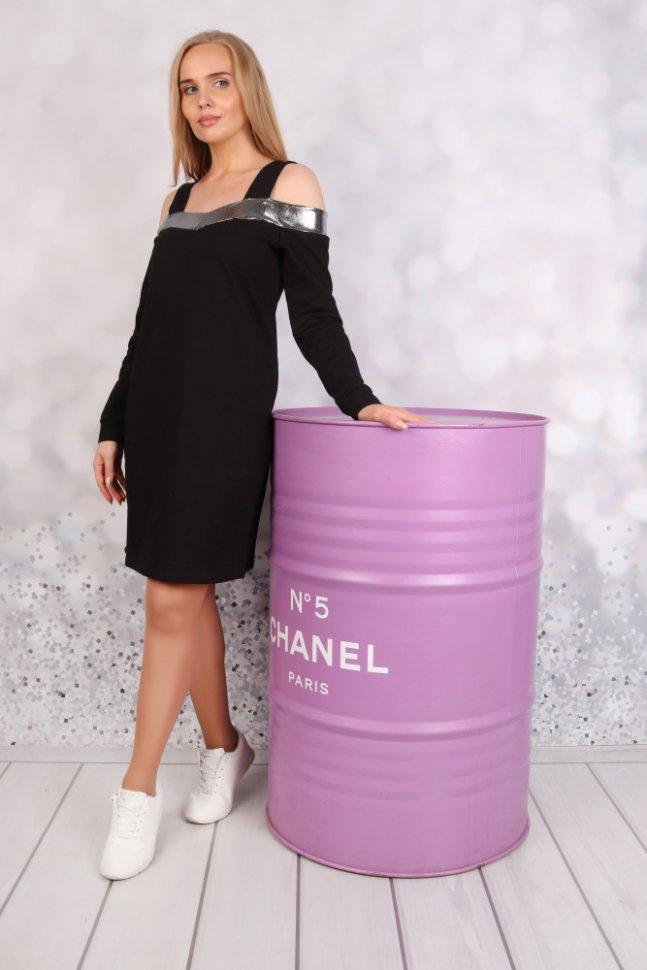 Платье трикотажное Джинет (черное) фото