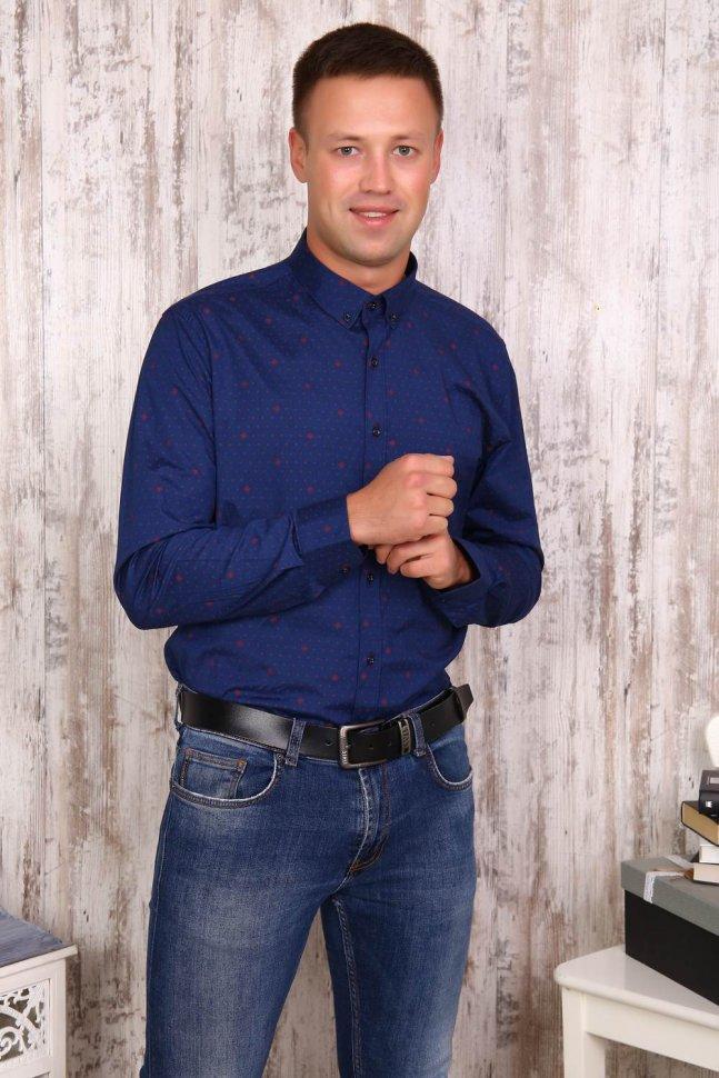 Рубашка мужская Роберт (темно-синяя)
