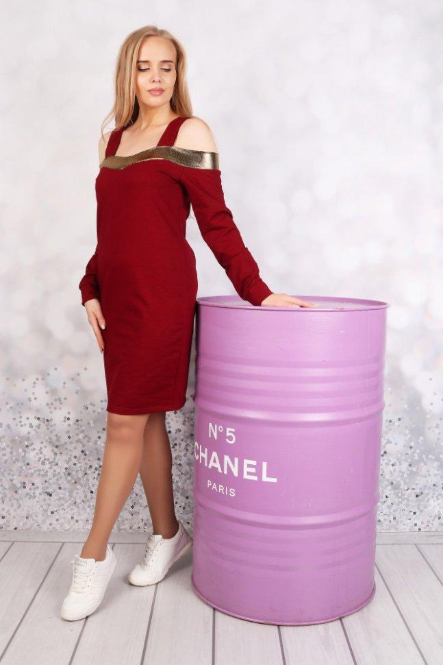 Платье трикотажное Джинет (красное)