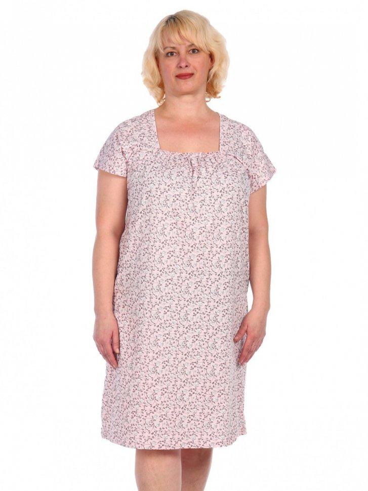 Ночная сорочка Виолет (розовая) фото