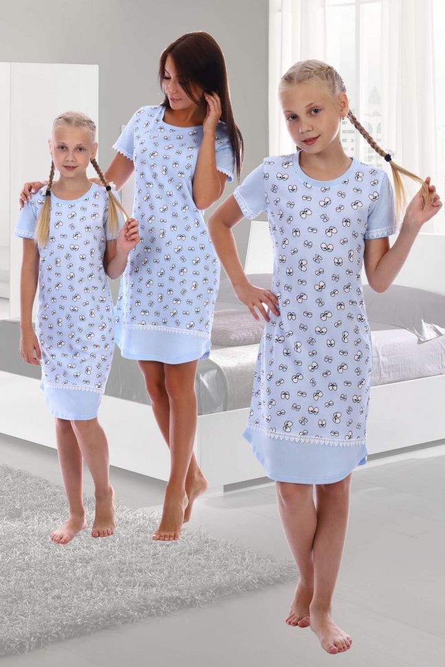 Ночная сорочка детская Артек (голубая) фото