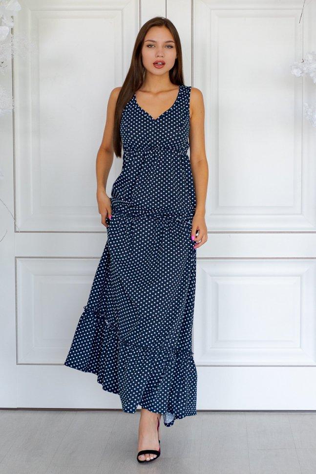 Платье трикотажное Женевра (горох)