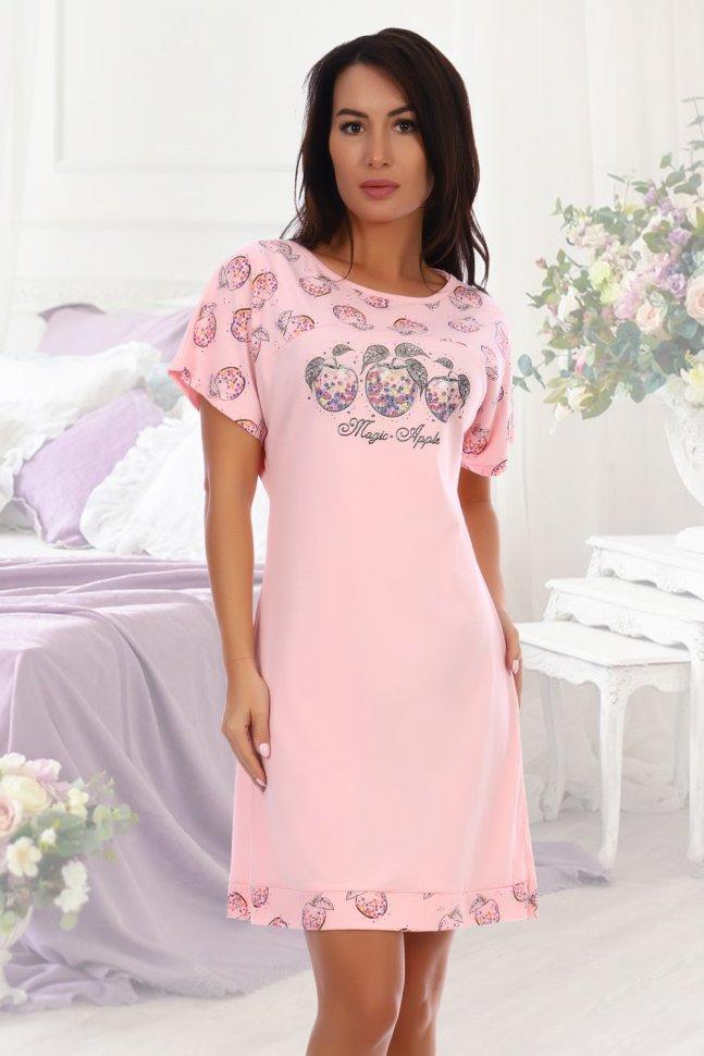 Ночная сорочка Грильяж (розовая) фото