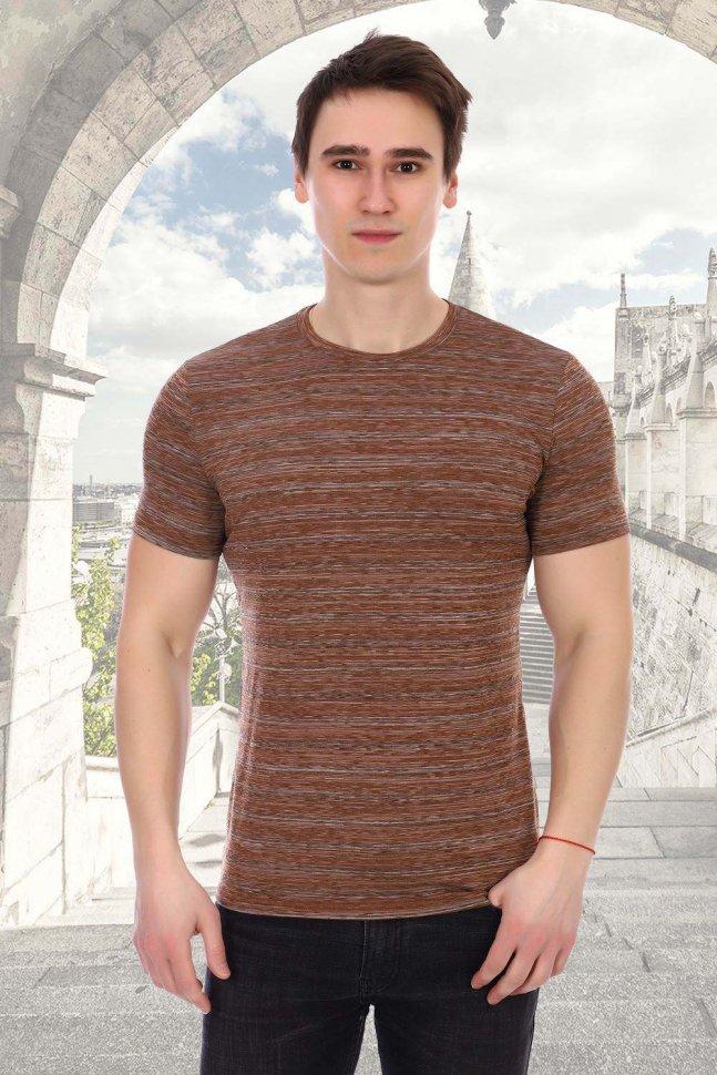 Футболка мужская Илья (коричневая) фото