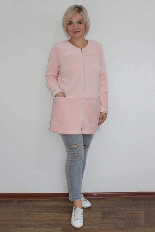 Кардиган трикотажный Арделия (розовый)