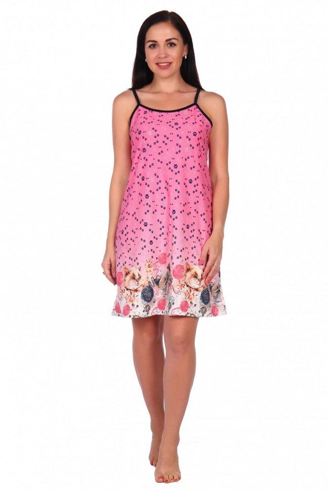 Ночная сорочка Инна (розовая) фото