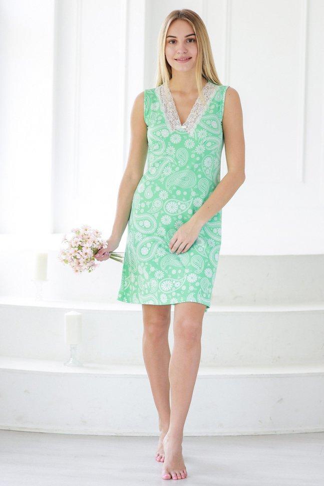 Ночная сорочка Элиза (зеленая) фото