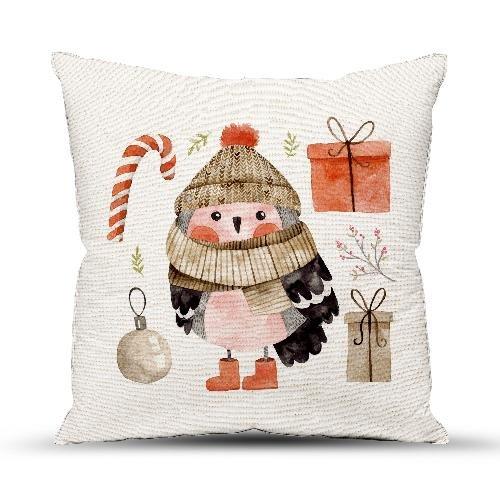 Подушка декоративная 40x40 Снегирь