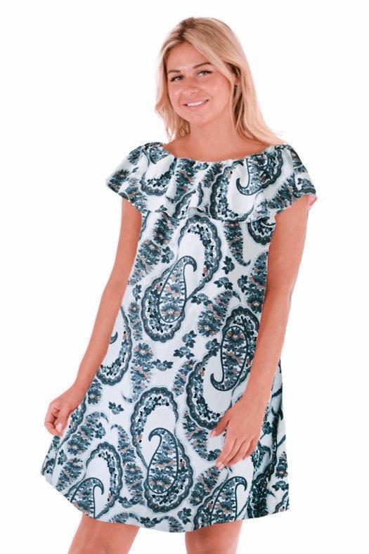 Платье штапельное Джуана (абстракция) фото
