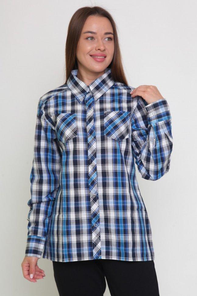 Рубашка трикотажная Дайна (клетка)