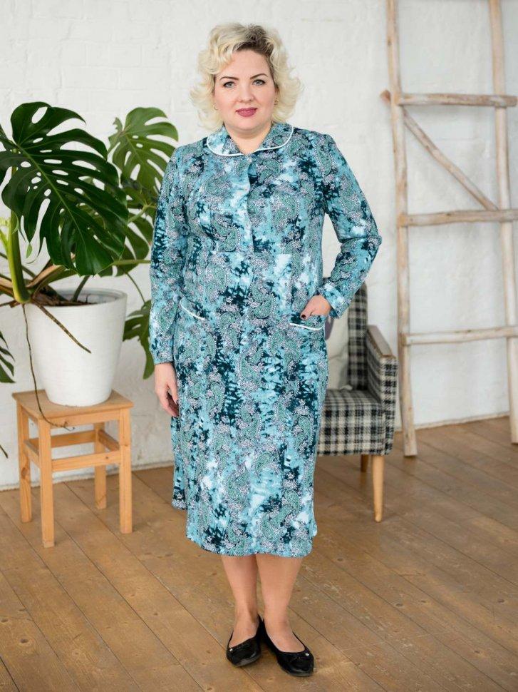 Платье трикотажное Татьяна (огурцы) фото